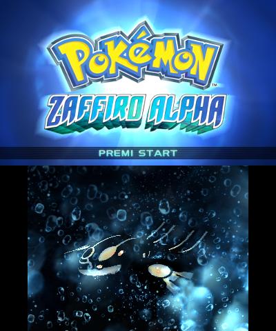 Schermata iniziale di Zaffiro Alpha