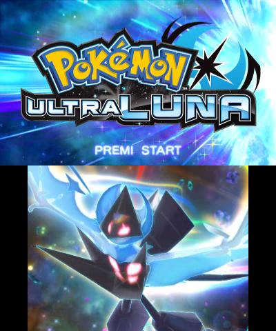Schermata iniziale di Ultraluna