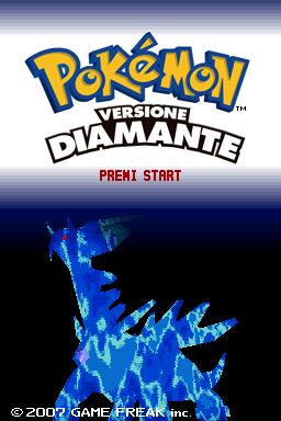 Schermata iniziale di Diamante