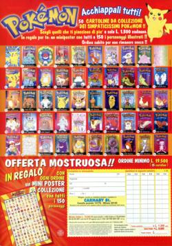 Pagina pubblicità delle cartoline postali Pokémon GB Posters 2000 Carnaby St.png