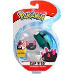 Figure Pyukumuku 2 pollici con Rete Ball della Wicked Cool Toys - Collezione Pokémon Clip 'N' Go Poké Ball 2019.jpg