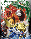 Artwork evoluzioni Pokémon iniziali Unima.png