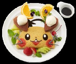 De-den ecco qua! Dedenne alla Banana (Pokémon Café Pikachu and Pokémon Music Café).png