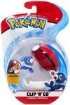 Figure Popplio 2 pollici con Poké Ball della Wicked Cool Toys - Collezione Pokémon Clip 'N' Go Poké Ball Series 2 2019.jpg