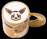 Caffè Latte Eevee (Caldo) (Pokémon Café Tokyo DX).png