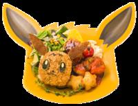 Piatto Ricco di Eevee (Pokémon Café Tokyo DX Menù Estivo).png