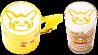 Marroni al latte Halloween di Pikachu (Caldo o Freddo) (Pokémon Café Tokyo DX Menù Autunnale 2018).png