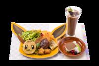 Set di piatti di Eevee (Pokémon Café Tokyo DX Menù celebrativo Let's Go! 2018-2019).png