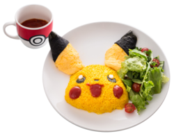 Pikachu il mio Riso ti farà Sorridere e Omuraisu (Pokémon Café Everything with Fries di Singapore).png