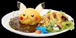 Anche Pikachu Ama l'Hamburger - Insalata ha Pollock - Salire di Livello con Caramella Rara (Pokémon Café Omega Ruby and Alpha Sapphire).png