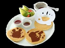 Andiamo! Faciamolo Insieme Pancake di Sagome Pokémon (Pokémon Café Pikachu and Pokémon Music Café).png
