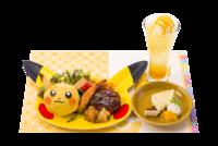 Set di piatti di Pikachu (Pokémon Café Tokyo DX Menù celebrativo Let's Go! 2018-2019).png