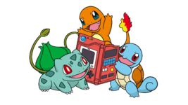 Artwork Pokémon iniziali Kanto Corp.png