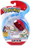 Figure Rowlet 2 pollici con Poké Ball della Wicked Cool Toys - Collezione Pokémon Clip 'N' Go Poké Ball Series 2 2019.jpg