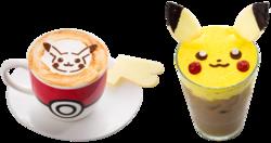 Caffè Latte Pikachu (Caldo o Freddo) (Pokémon Café Everything with Fries di Singapore).png