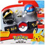 Figure Jangmo-o 2 pollici set di Chic Ball e Mega Ball con Cintura della Wicked Cool Toys - Collezione Pokémon Poké Ball Clip 'N' Go Belt Set.jpg