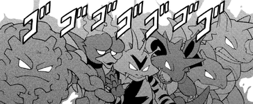 Marshadow Magmar Rhydon F20 manga.png