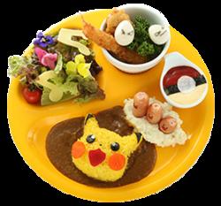 Piatto per bambini di Pikachu Caratterizzato dai Diglett (Pokémon Café Pikachu and Pokémon Music Café).png