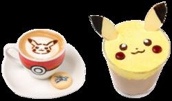 Caffè Latte Pikachu (Caldo o Freddo) (Pokémon Café Omega Ruby and Alpha Sapphire).png