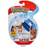 Figure Eevee 2 pollici con Mega Ball della Wicked Cool Toys - Collezione Pokémon Clip 'N' Go Poké Ball 2019.jpg