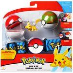 Figure Pikachu 2 pollici set di Poké Ball e Minor Ball con Cintura della Wicked Cool Toys - Collezione Pokémon Poké Ball Clip 'N' Go Belt Set.jpg