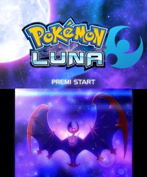 Schermata iniziale di Luna
