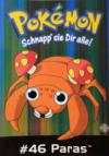 Cartolina PC0225 Pokémon 46 Paras GB Posters.png