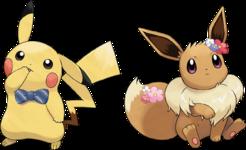 Artwork Pikachu Eevee accessori LGPE.png