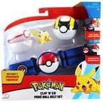 Figure Pikachu (seconda variante) 2 pollici set di Premier Ball e Ultra Ball con Cintura della Wicked Cool Toys - Collezione Pokémon Poké Ball Clip 'N' Go Belt Set Series 2 2019.jpg