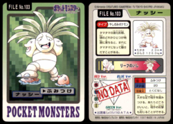 Carddass Pokémon Parte 3 File No.103 Exeggutor Pestone Pocket Monsters Bandai (1997).png
