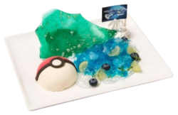 Mossa decisiva Idropompa! ArcheoKyogre di piatto da Dessert (Pokémon Café Omega Ruby and Alpha Sapphire).png