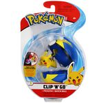 Figure Pikachu 2 pollici con Velox Ball della Wicked Cool Toys - Collezione Pokémon Clip 'N' Go Poké Ball Series 2 2019.jpg