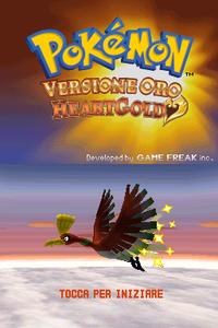 Schermata iniziale di Oro HeartGold