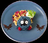 Montebianco Halloween di Tangela (Pokémon Café Tokyo DX Menù Autunnale 2018).png