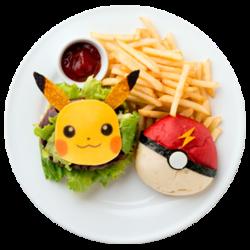 Pikachu hai selto Te! Inserisci il Poké Ball sulla Hamburger (CoroCoro Comic Legend Café 40th Anniversary).png