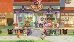 Schermata addobbi di Halloween della Café Pokémon.png